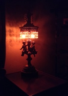 This wonderfully ridiculous cherub lamp charms me every time I see it. Just wanted to share with you.