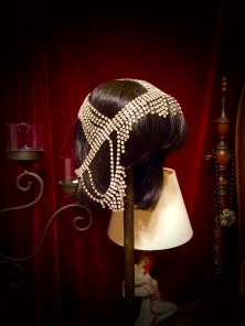 This headdress is super sparkly in real life.