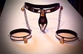 Modern Chastity Belt with detachable locking thigh cuffs